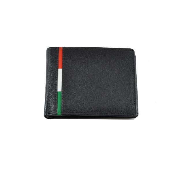 Bőrpénztárca csíkos betéttel, mini
