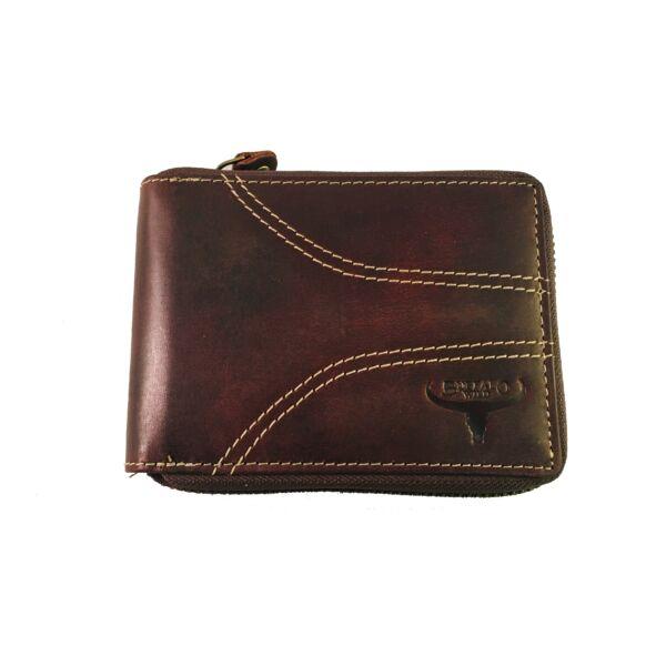 Buffalo Wild férfi bőrpénztárca, körcipzáros 63