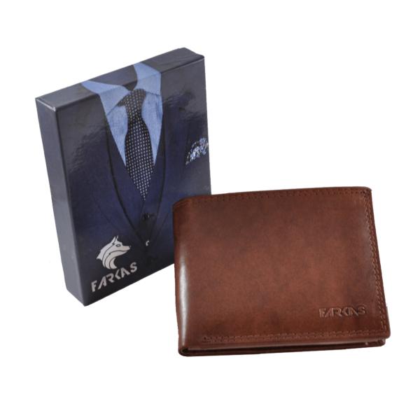 FARKAS RFID bőrpénztárca (nagy méretű) 38658