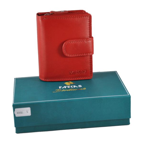 FARKAS kis méretű, álló fazonú bőrpénztárca RFID védelemmel 4002