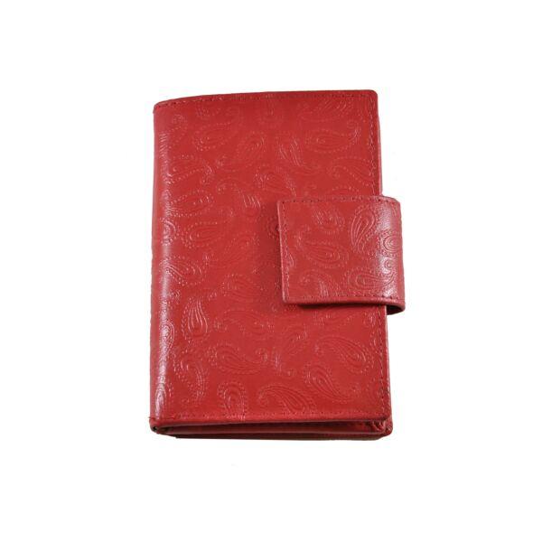 Farkas nyomott mintás bőrpénztárca, álló fazon, csepp 8673.4.1