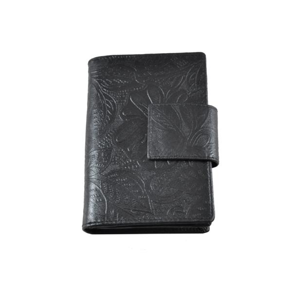 Farkas nyomott mintás bőrpénztárca, álló fazon, virág 8673.8.2