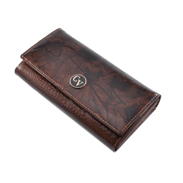 Cavaldi pillangós bőrpénztárca H27