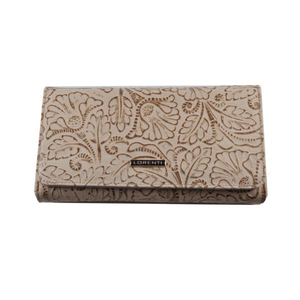 Lorenti nyomott mintás bőrpénztárca 10771