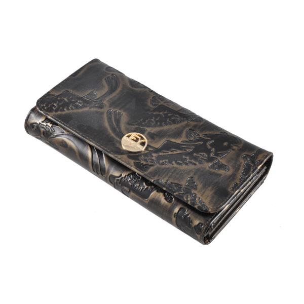 Nyomott halmintás bőrpénztárca 1077