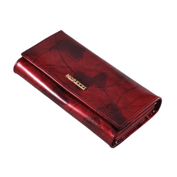 Angela Moretti piros lakkpénztárca pillangós mintával 0452