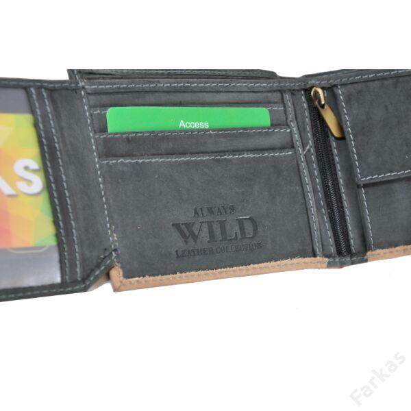 Wild férfi pénztárca koptatott bőrből 8665