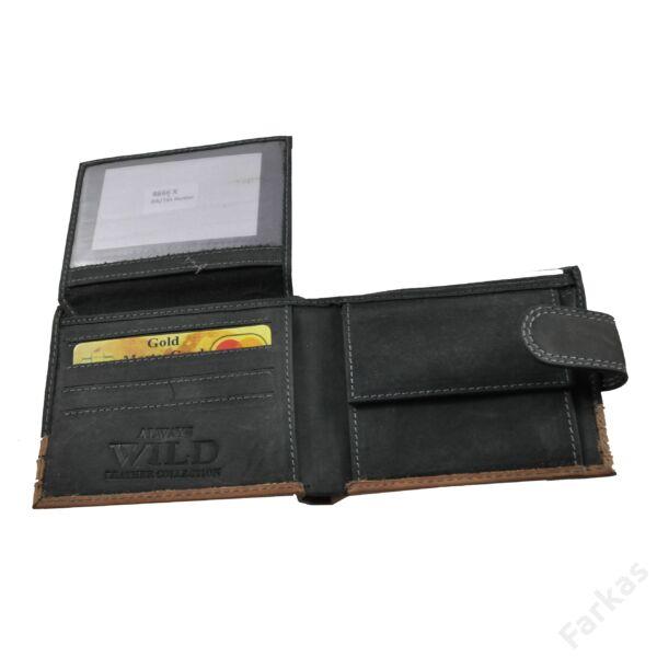 Wild férfi pénztárca koptatott bőrből 8666