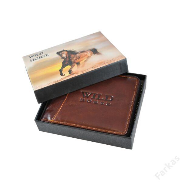 Wild barna bőrpénztárca