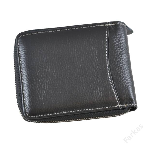 Wild Horse fekete pénztárca körcipzárral 91