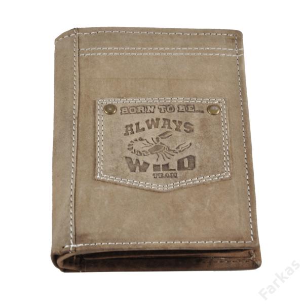 Always Wild álló fazonú bőrpénztárca, irattartó N4BTB
