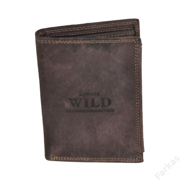 Always Wild álló fazonú bőrpénztárca, irattartó N4MHU