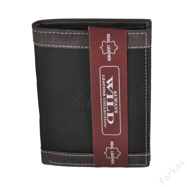 Always Wild álló fazonú bőrpénztárca, irattartó N4DB