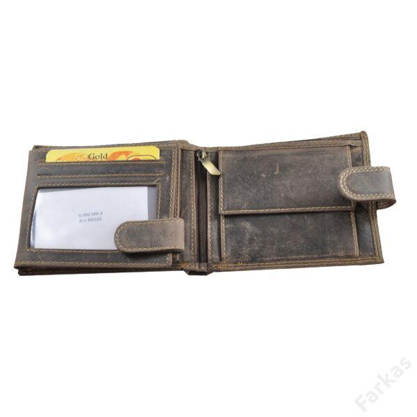 Always Wild férfi pénztárca koptatott bőrből, patenttal nyítható N992