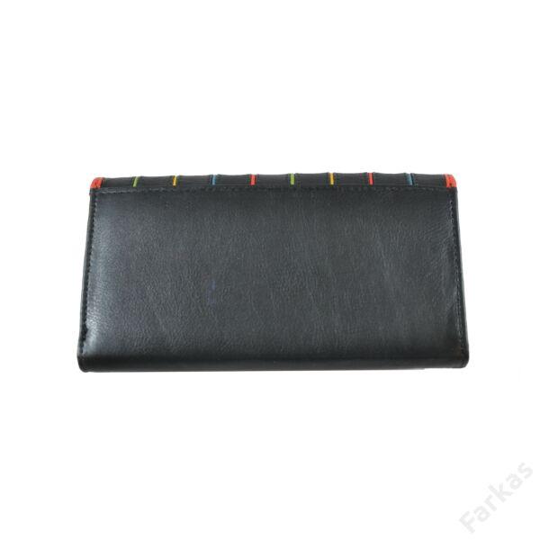 Csíkos bőrpénztárca hölgyeknek 1800106