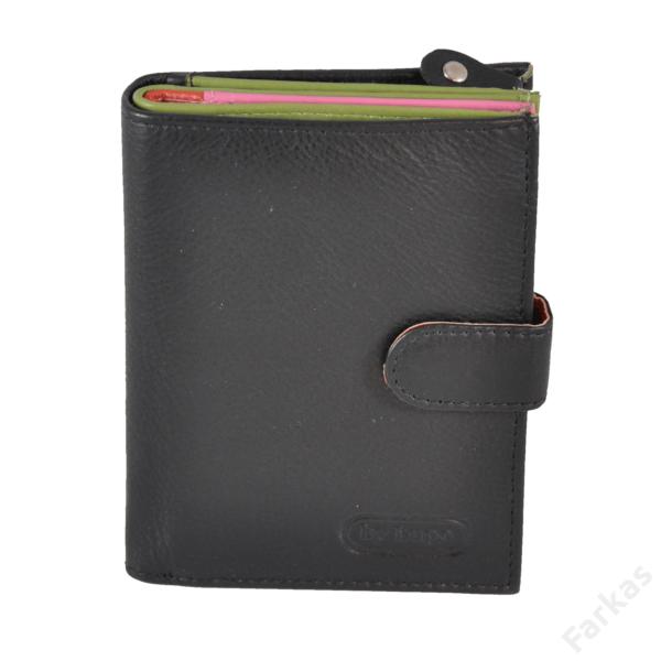 Multicolor bőrpénztárca, álló fazon, 4203