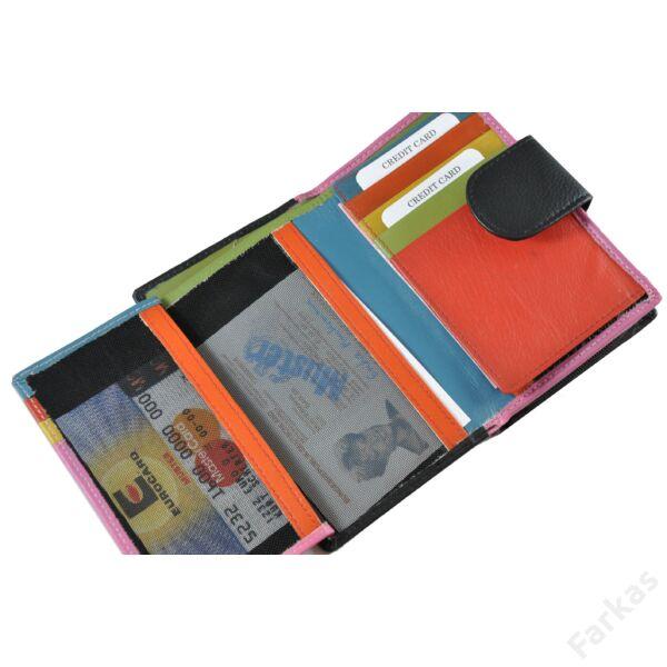 Multicolor bőrpénztárca