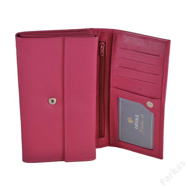 Pink bőrpénztárca brifkó fazonban 73109