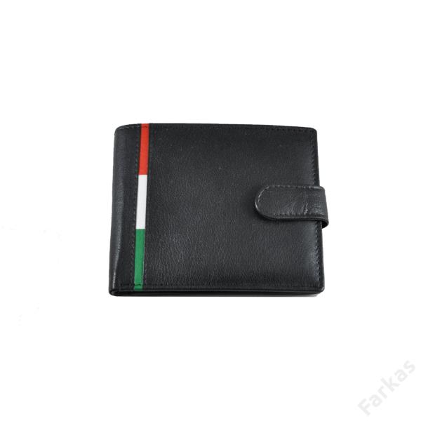 Bőrpénztárca csíkos betéttel
