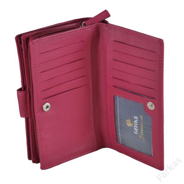 Álló fazonú pink bőrpénztárca 78626
