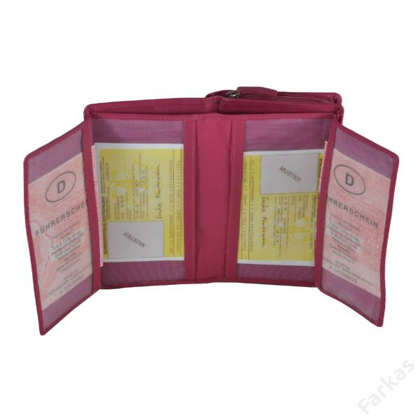 Álló fazonú pink bőrpénztárca 78638