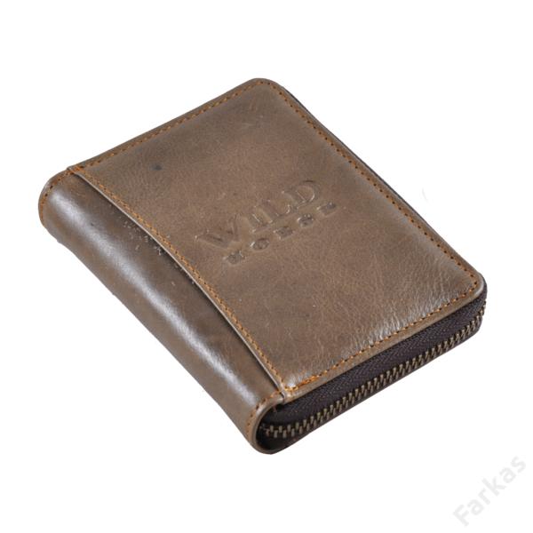 Wild Horse barna pénztárca körcipzárral, álló fazon