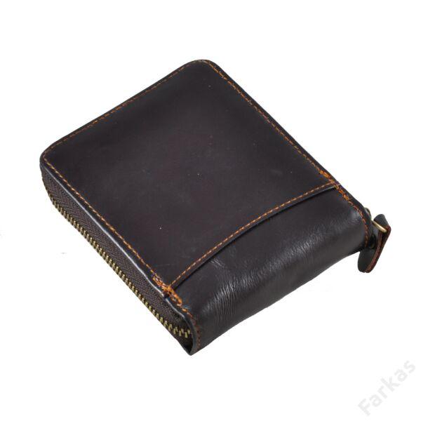 Wild Horse barna pénztárca körcipzárral