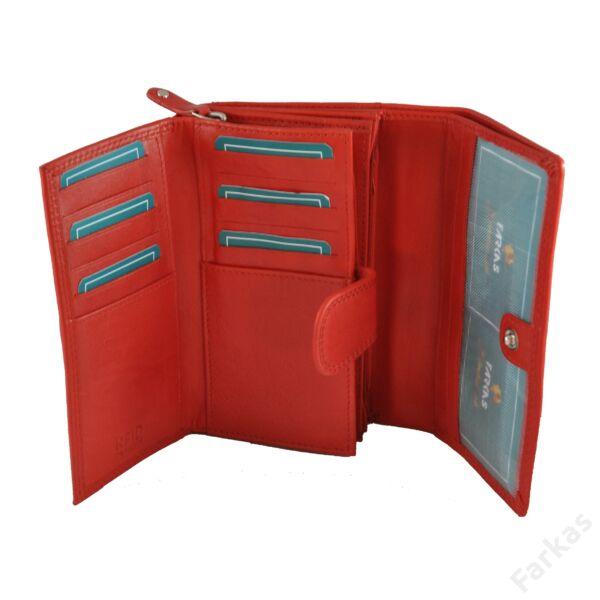 FARKAS női bőrpénztárca RFID védelemmel 314