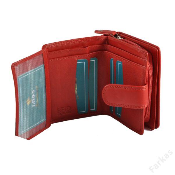 FARKAS bőrpénztárca, álló fazon RFID védelemmel 52039