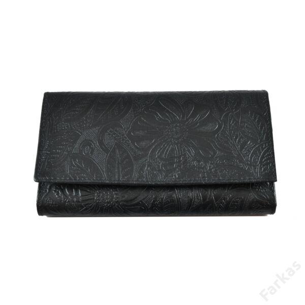 Farkas nyomott mintás bőrpénztárca virág 8670.8.2