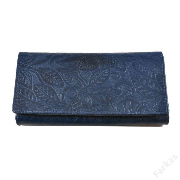Farkas nyomott mintás bőrpénztárca virág 8671.2.2