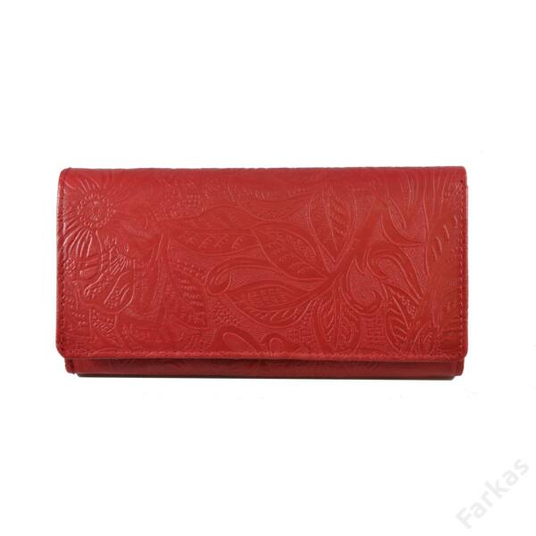 Farkas nyomott mintás bőrpénztárca virág 8671.4.2