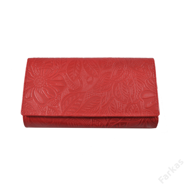 Farkas nyomott mintás bőrpénztárca virág 8674.4.2