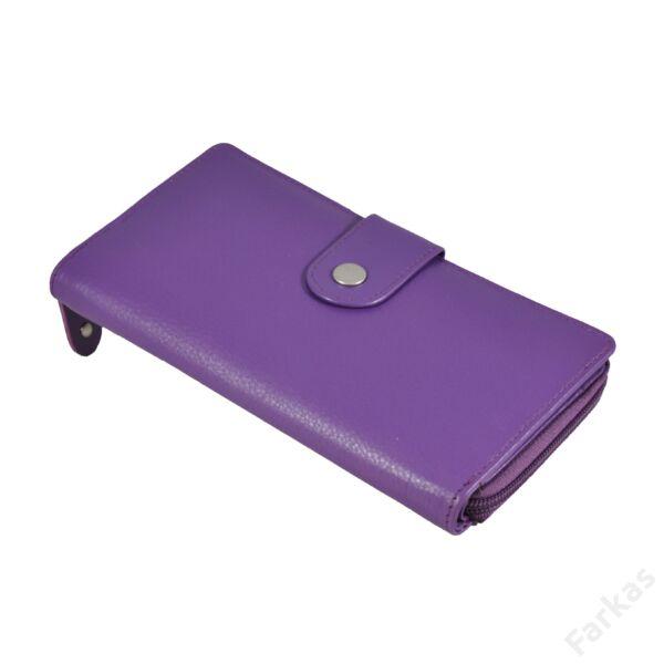Női körcipzáras bőrpénztárca 78625