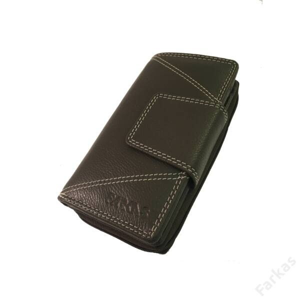 Farkas bőrpénztárca, álló fazon 4444
