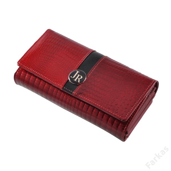 Julia Rosso lakkpénztárca kroko mintával