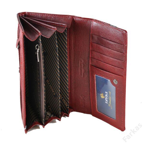 Julia Rosso piros krokos lakkpénztárca 10207