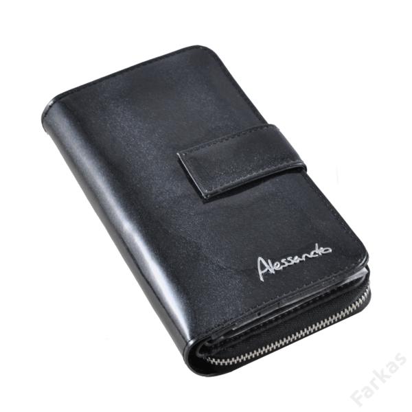 Alessandrop Paoli lakkbőr pénztárca, álló fazon 2117