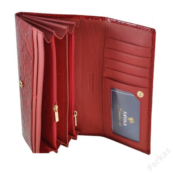 Alessandro piros lakkpénztárca rózsa mintával 4438
