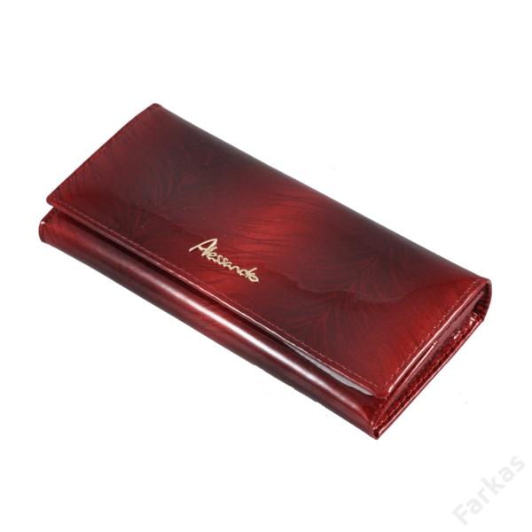 Alessandro piros lakkpénztárca 6367