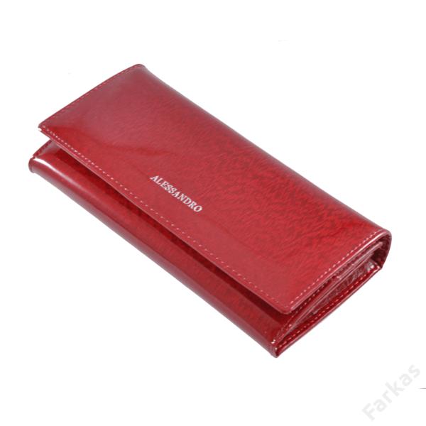 Alessandro piros lakkpénztárca