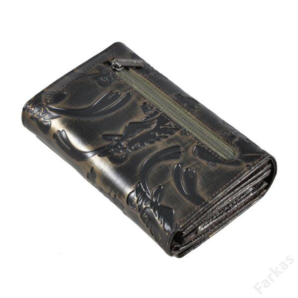 Nyomott halmintás bőrpénztárca 76112