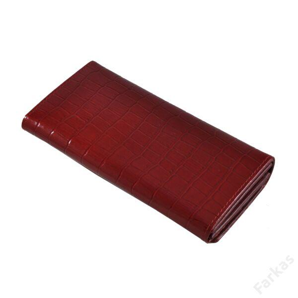 Julia Rosso piros krokos lakkpénztárca 7707
