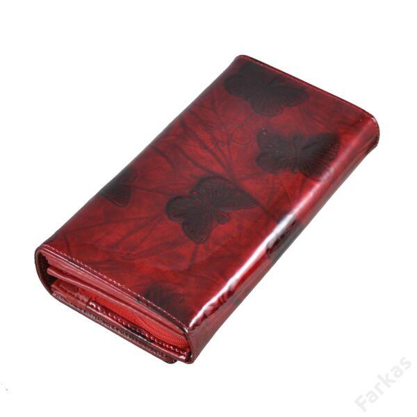 Julia Rosso lakkpénztárca pillangós mintával