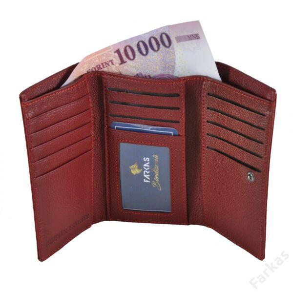 Cavaldi keretes lakkpénztárca krokós mintával H23