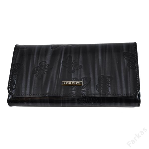 Lorenti fekete lakkpénztárca 1077