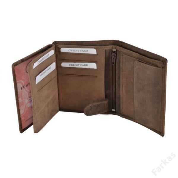 Álló fazonú férfi pénztárca koptatott bőrből 460036