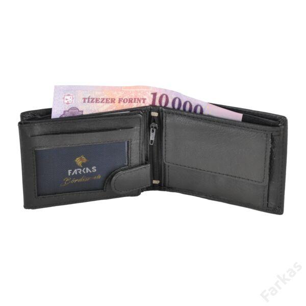 Fekete férfi pénztárca díszvarrással