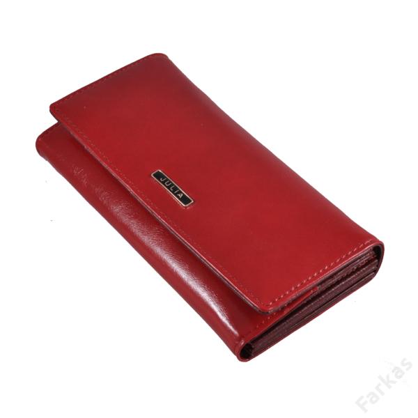 Julia Rosso piros pénztárca 7107