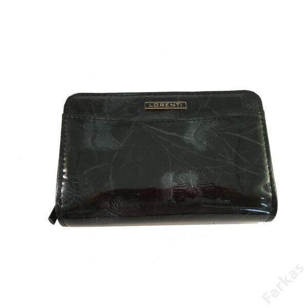 Lorenti pillangós lakkpénztárca, fekete 01122